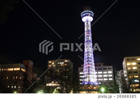 横浜マリンタワー(夜景) 26988385