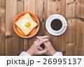 パン 食事 朝食の写真 26995137
