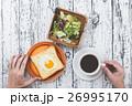 パン 食事 朝食の写真 26995170