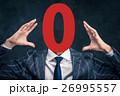 ビジネスマン 数字 番号の写真 26995557