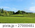 富士山 青空 茶畑の写真 27000481