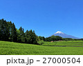 富士山 茶畑 畑の写真 27000504
