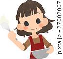 お菓子を作る女の人 27002007