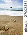 Sea with Wave and Shells on Sand. 27002562