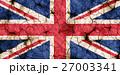 乾裂土壤上的英國國旗特寫紋理背景(高分辨率 3D CG 渲染∕著色插圖)飢荒乾旱自然災害 27003341