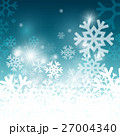 Snowflakes on Blue Background. Christmas Pattern 27004340