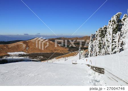 九重森林公園スキー場 パノラマコースと樹氷 27004746