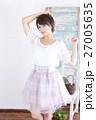 若い女性 ファッション ポートレート 27005635