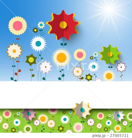 Flowers Garden. Vector Spring Background. 27005721