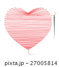 Heart Icon Made from String with Needle. 27005814