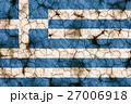 乾裂土壤上的希臘國旗特寫紋理背景(高分辨率 3D CG 渲染∕著色插圖)飢荒乾旱自然災害 27006918