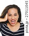 叫ぶ 女 女の人の写真 27011045