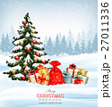 Holiday Christmas background with a sack 27011336