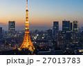 ライトアップした東京タワー 27013783
