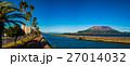 与次郎ヶ浜長水路から見る桜島 27014032