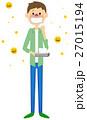花粉症 花粉 アレルギーのイラスト 27015194