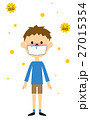 花粉症 花粉 鼻炎のイラスト 27015354