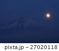 月 満月 富士山の写真 27020118
