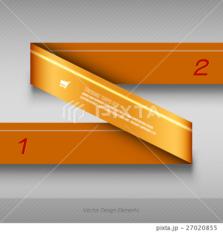 Modern business origami style options banner.のイラスト素材 [27020855] - PIXTA