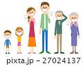 家族 体調不良 発熱のイラスト 27024137