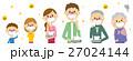 家族 花粉症 花粉のイラスト 27024144
