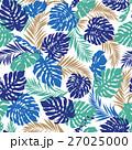 熱帯植物 トロピカルリーフ モンステラのイラスト 27025000