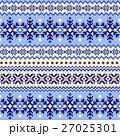 ノルディック柄 雪 模様編みのイラスト 27025301