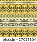 ノルディック柄 雪 模様編みのイラスト 27025304