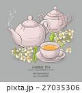 お茶 ティーポット ドリンクのイラスト 27035306
