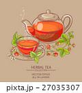 strawberry tea vector illustration 27035307