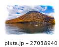 栃木県日光市 男体山と中禅寺湖(10月)_イラスト風 27038940