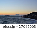 富士山 夕焼け 風景の写真 27042003