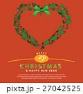 クリスマス リース フレームのイラスト 27042525