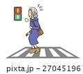 おばあさん横断歩道を渡る 27045196