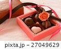 バレンタイン チョコレート リボンの写真 27049629