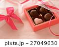 バレンタイン チョコレート リボンの写真 27049630