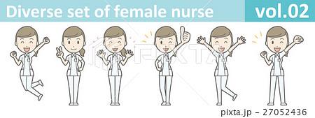 白衣を着た看護師の女性vol.02 27052436
