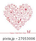 バレンタイン ハート バレンタインデーのイラスト 27053006
