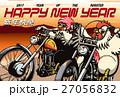 年賀状 オートバイ 鶏のイラスト 27056832