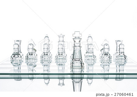 leader Standing Out From The Crowd, glass Chess 27060461