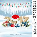 ベクター クリスマス バックグラウンドのイラスト 27063211