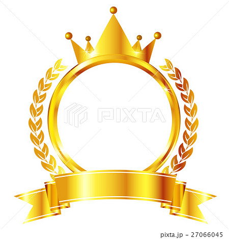 王冠 金 フレーム アイコン のイラスト素材 27066045 Pixta
