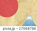 富士山 背景素材 和のイラスト 27068786