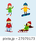 Winter games kids vector illustration. 27070173