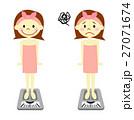 体重計 体重 ダイエットのイラスト 27071674