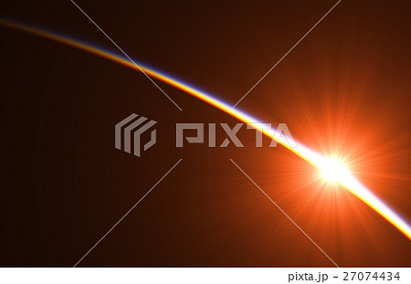 First Rays Of The Sun Above The Earth In Space 27074434