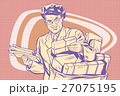 retro postman, delivering letters 27075195