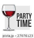 ぶどう酒 ワイン 葡萄酒のイラスト 27076123