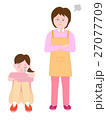 虐待を受け泣く少女 27077709