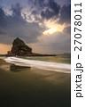 長崎 夕陽 砂浜の写真 27078011